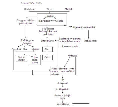 format askep jiwa pathway woc ima gastritis asuhan keperawatan