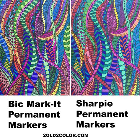 coloring book for adults markers bic it markers and sharpie markers comparison 2