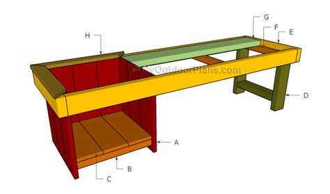 building a bbq bench how to build a planter bench myoutdoorplans free