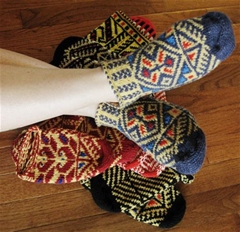 ethnic pattern socks bosnian slipper socks ethnic knitting adventures