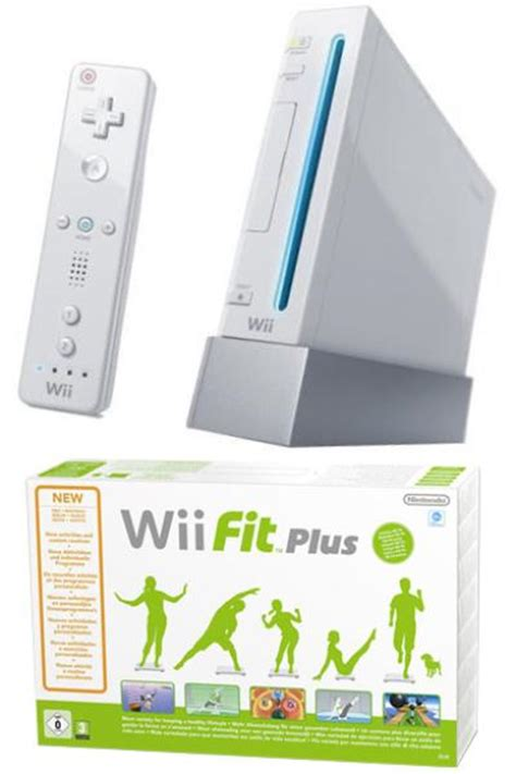 wii fit console white wii console and wii fit plus bundle consoles