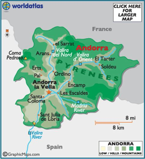 andorra map / geography of andorra / map of andorra