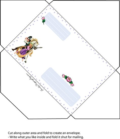Birthday Card Envelope Template by Tangled Free Template Dinka Envelopes