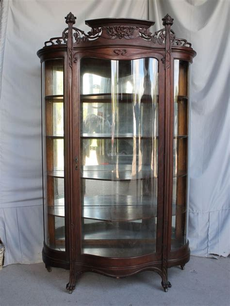 are curio cabinets out of style antique oak curio china cabinet art nouveau style