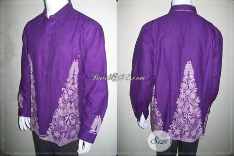 Dress Kemeja Panjang Ungu kemeja batik ungu lengan panjang muslim pria sederhana