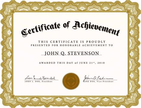 awards certificates free templates certificate234
