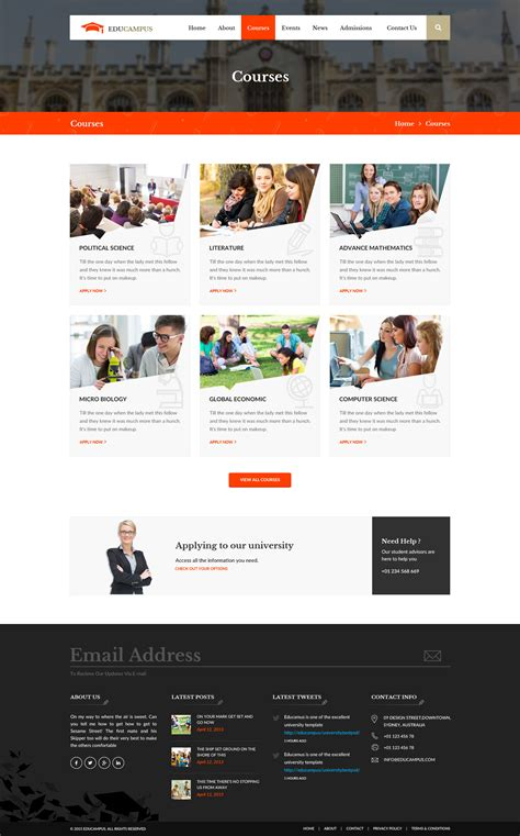 education psd templates educus education psd template by wpmines