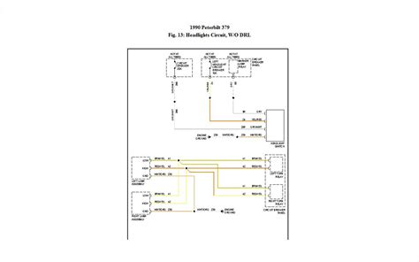 peterbilt headlight wiring diagram peterbilt get free