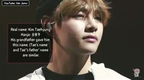 kim taehyung hanja bts revealed the meaning of their real names their