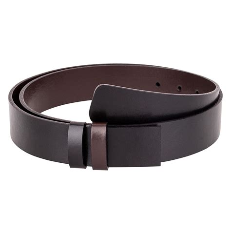s reversible belt without buckle black brown leather