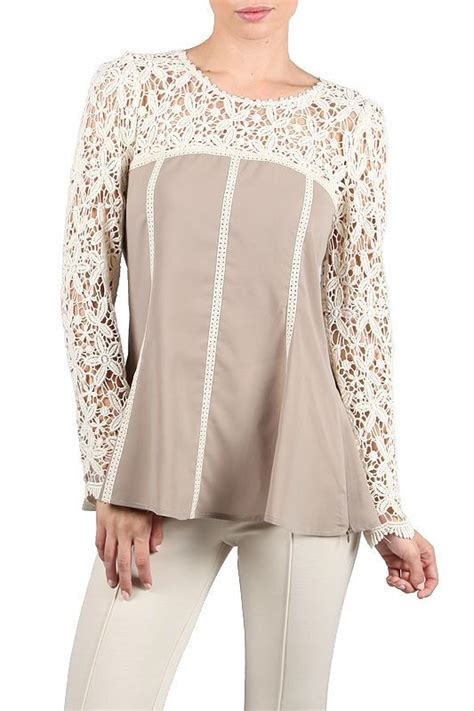 P Top Ryu Blouse a reve ryu anthropologie brown lace crochet