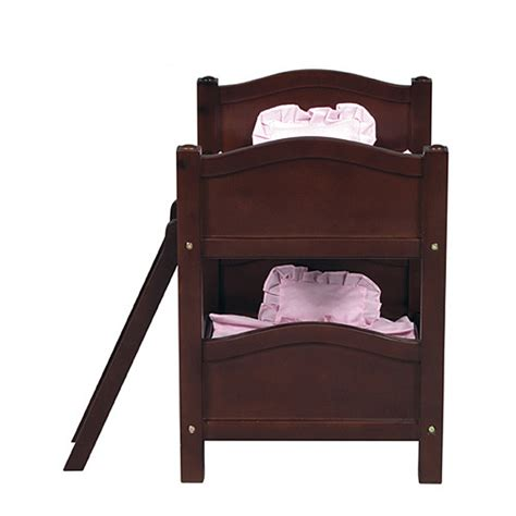 espresso bunk bed doll bunk bed in espresso rosenberryrooms com