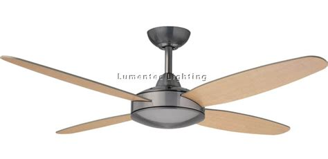 hun0037 sonic ceiling fans without light in brushed nickel