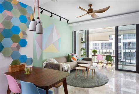 homes cool pastel hues bright interiors home decor singapore