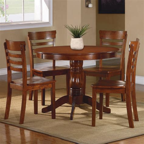 oak dining room sets piece 42 inch round dining room set in antique oak