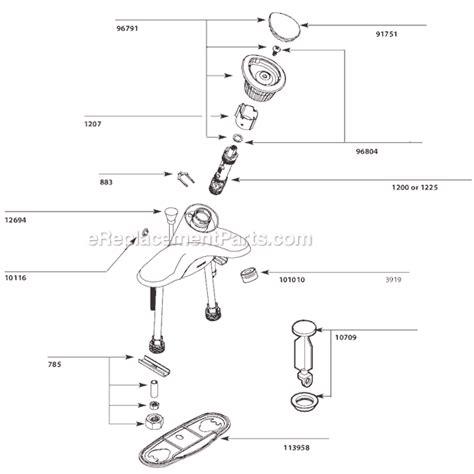 Moen Faucet Parts List by Moen 4621 Parts List And Diagram 8 09 10 10