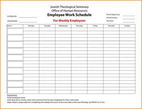 employee schedule template search results for a 6 week calendar template calendar