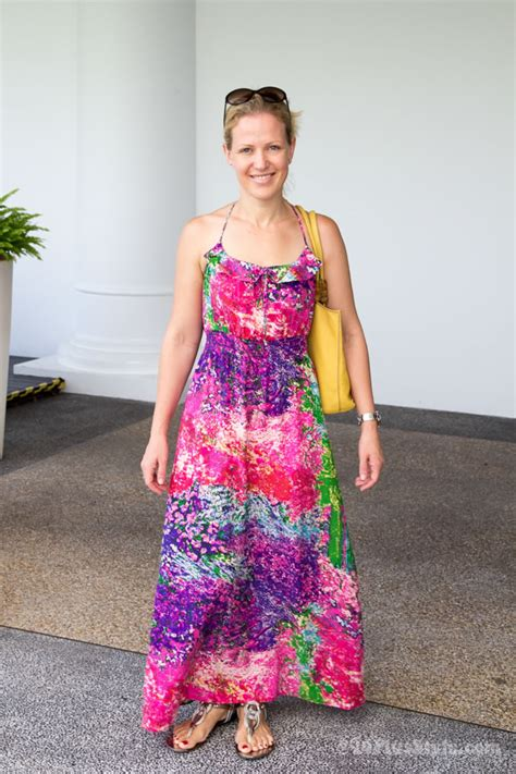 maxi beach fashion for women over fifties celebrating the summer printed dress part 1