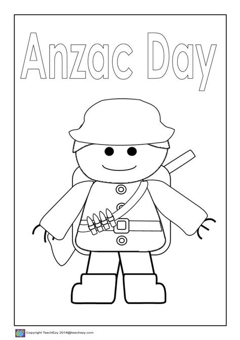 image result  anzac day colouring  remembrance day