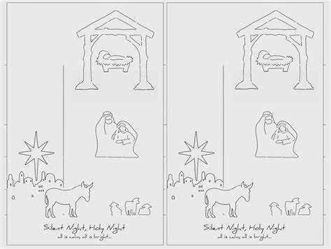 Pop Up Nativity Card Template by S Frayed Knot Pop Up Nativity Card