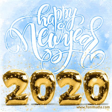 animated snow falling gif loop happy  year    funimadacom