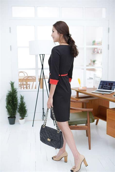 Dress Korea Anablue A 1631 korea design breasted high quality work dress for