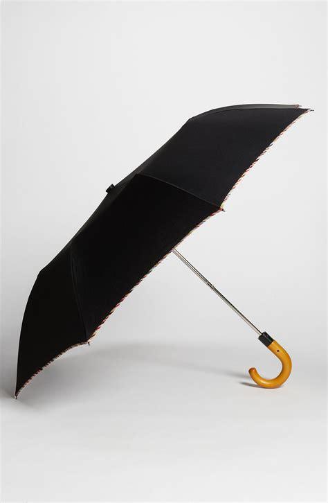 black umbrella paul smith umbrella in black multi lyst