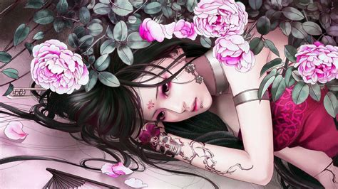 anime girl tattoo hd wallpaper tattoo anime girl 1920x1080 hd wallpaper hintergrundbild