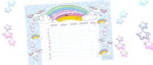 Printable Timetable Diy Einhorn Schult 220 Te Basteln Familicious
