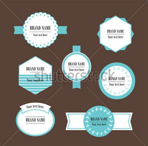 8 food packaging label templates free printable psd