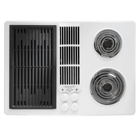 Jenn Air Electric Cooktop With Grill jenn air jed8130ad 30 quot electric downdraft cooktop with