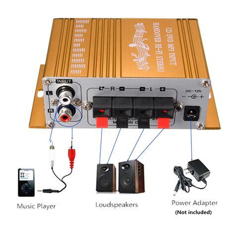Speaker Perahu Miniatur mini terbaru 2ch hi fi lifier penguat radio mp3 stereo mobil perahu untuk sepeda motor 12 v