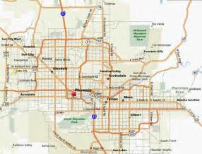 Phoenix Area Map by Phoenix Area Map Layout Pinterest
