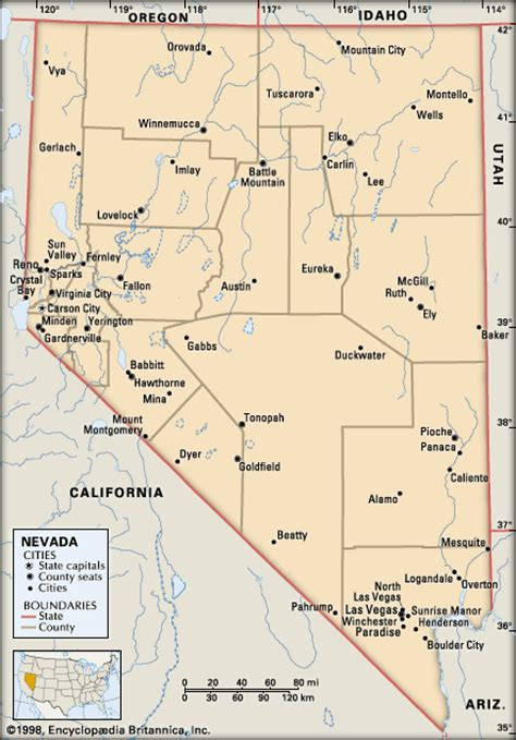 map of nevada and california with cities nevada cities encyclopedia children s homework