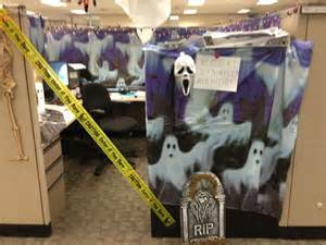 halloween themes for workplace halloween themed cubicle decorating deck the halls