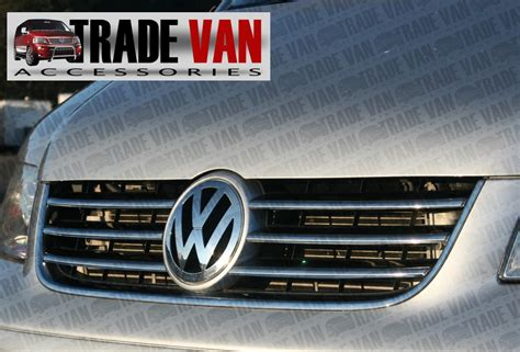 Sen Grill Chrome vw t5 6pc chrome radiator grille covers cover stainless