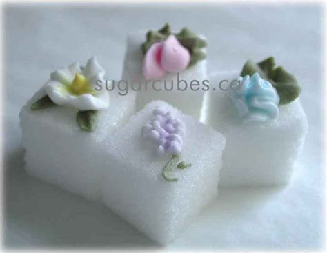 decorated sugar cubes for the sweetest tea and