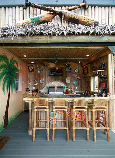 Tiki Bar Kitchen Bamboo Wall Lining This Could Keep Some Of The Blowing