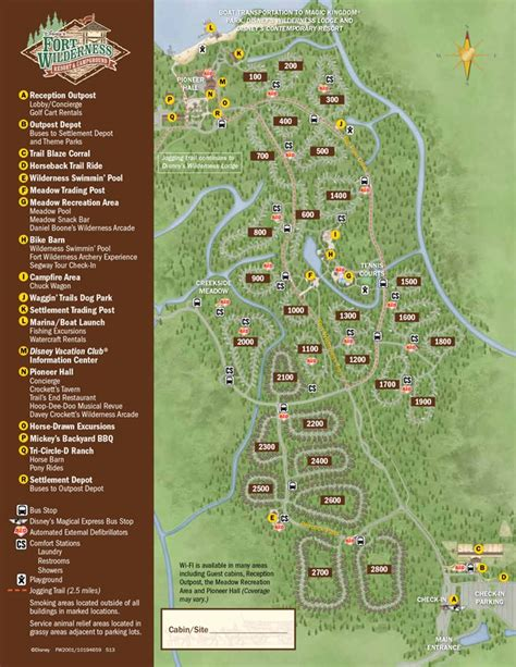 fort wilderness map 2013 fort wilderness guide map photo 1 of 1