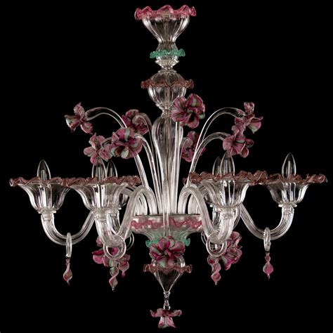 chandelier fiordaliso floral murano glass 6 lights looking chandelier fiordaliso floral murano glass
