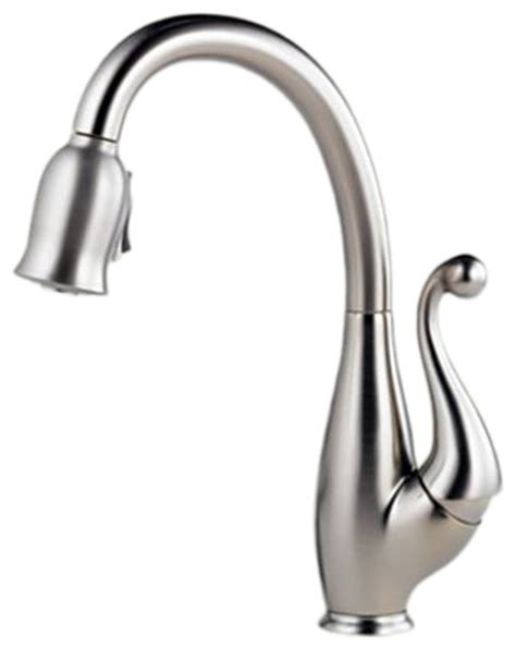 brizo kitchen faucets brizo 63500 ss floriano stainless steel kitchen pull faucet modern kitchen faucets by