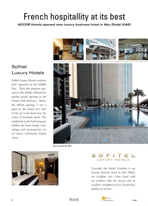 Corniche International by Sofitel Abu Dhabi Corniche Oceana Magazine