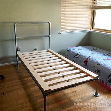 homemade bed frame ideas 47 diy bed frame ideas built with pipe simplified building