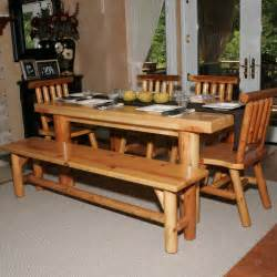 Bench Dining Room Sets here s a dining table set with bench perfect for the log cabin or home