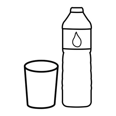 bicchieri da colorare disegni da colorare bottiglia di acqua con bicchiere