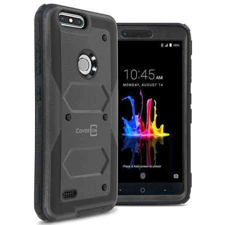 coveron zte blade z max zmax pro 2 sequoia tank series protective armor phone