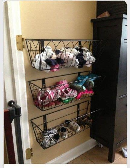 shoe baskets storage hanging shoe storage using hanging flower baskets
