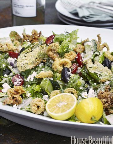 tyler florence salad summer calamari salad dinner tonight greek salad