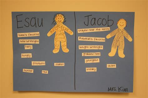 jacob and esau crafts for teaching the bible jacob and esau sort