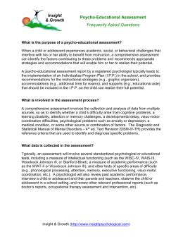 psychoeducational report template psychoeducational evaluation